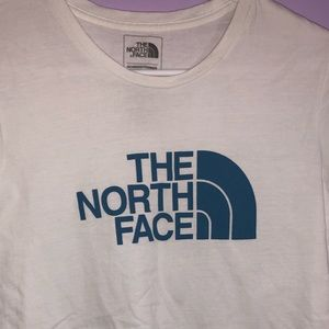 The North Face white/blue t-shirt.